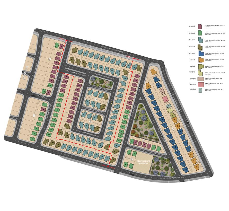 Masterplan Barrio Los Castaños VII